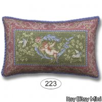 Miniature Dollhouse Pillow Victoriana