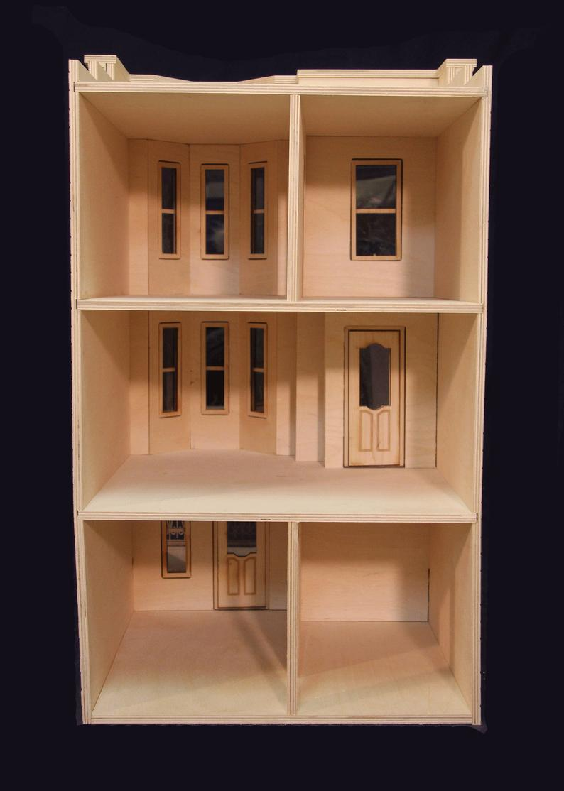 The Park Avenue Dollhouse Kit-Brownstone Townhouse - Click Image to Close