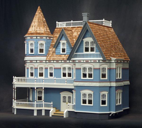 Queen Anne Victorian Dollhouse Kit Hs6600 1 200 00 Manhattan