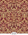 Red and Gold Damask Wallpaper 1:12