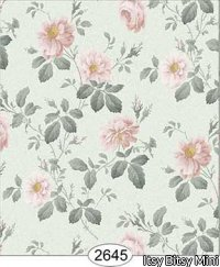 Rose Hill Floral Pale Peach on Seaform Green