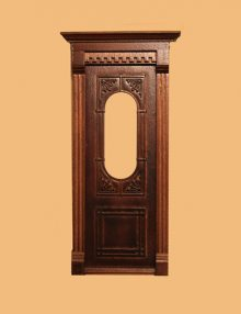 Rosemount Exterior Single Door- New Walnut