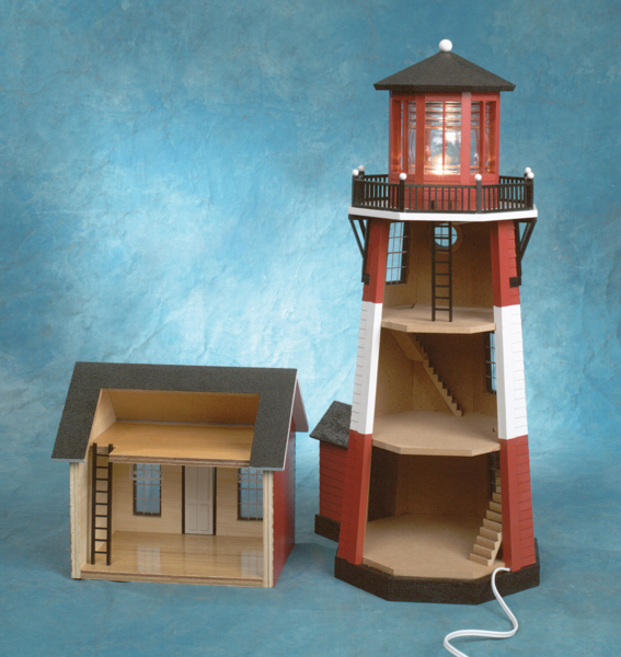 1/2 Inch Scale New England Lighthouse Kit - Click Image to Close