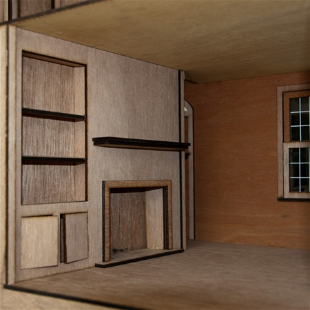 The Laser Cut Jefferson Dollhouse Kit - Click Image to Close