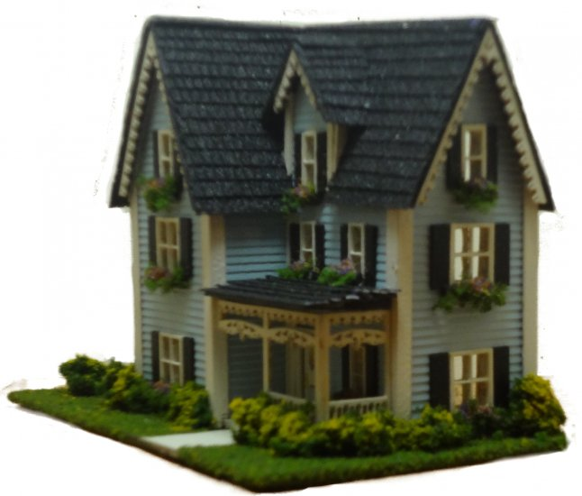 Victorian Dollhouse 144th Scale - Click Image to Close
