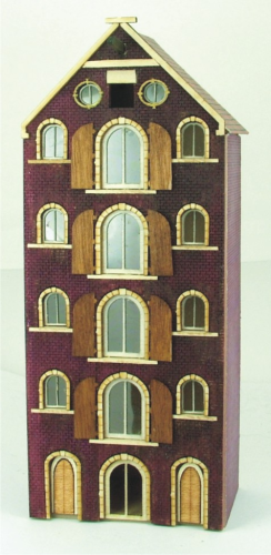 Saddle Roof Warehouse Amsterdam Canal 1/144th Scale House