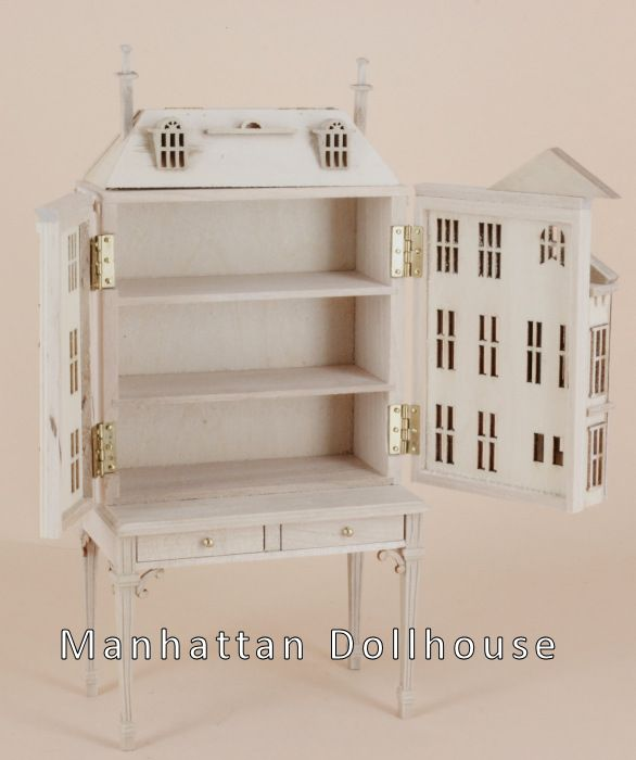 Pickering Manor Dollhouse Unpainted 144Scale - Click Image to Close