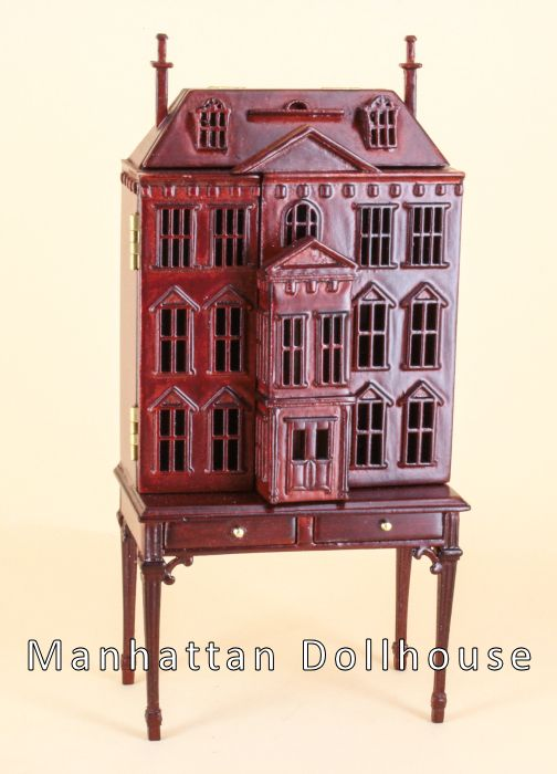 Bespaq Pickering Dollhouse In Mahogany