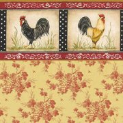 Dollhouse Wallpaper with Rooster Border 3