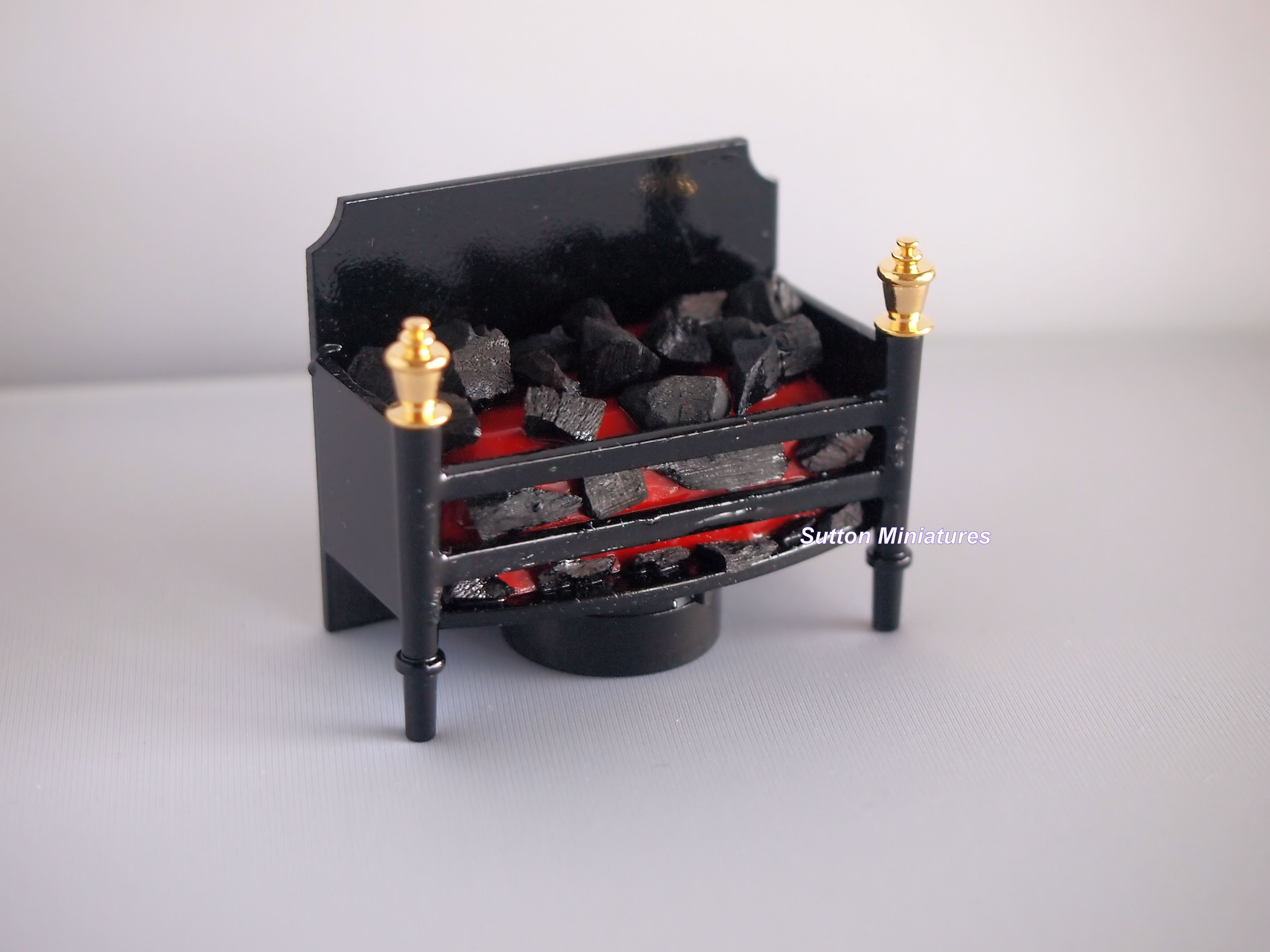 Dollhouse Miniature Flickering Lights Fireplace Set by Miniature House