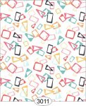 Retro Floating Shapes Multicolor Wallpaper