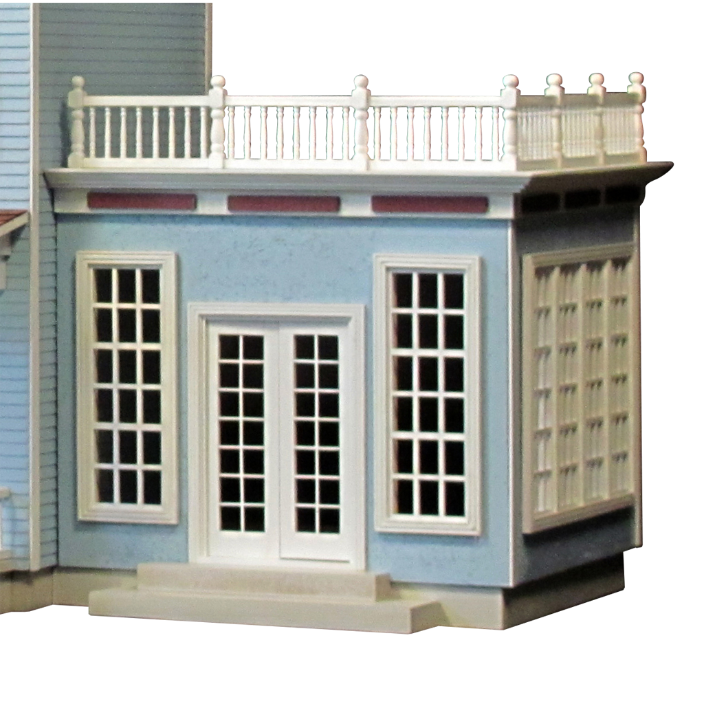 The Foxcroft Estate Dollhouse Kit - Click Image to Close