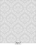 Ethereal Damask Grey Miniature Wallpaper
