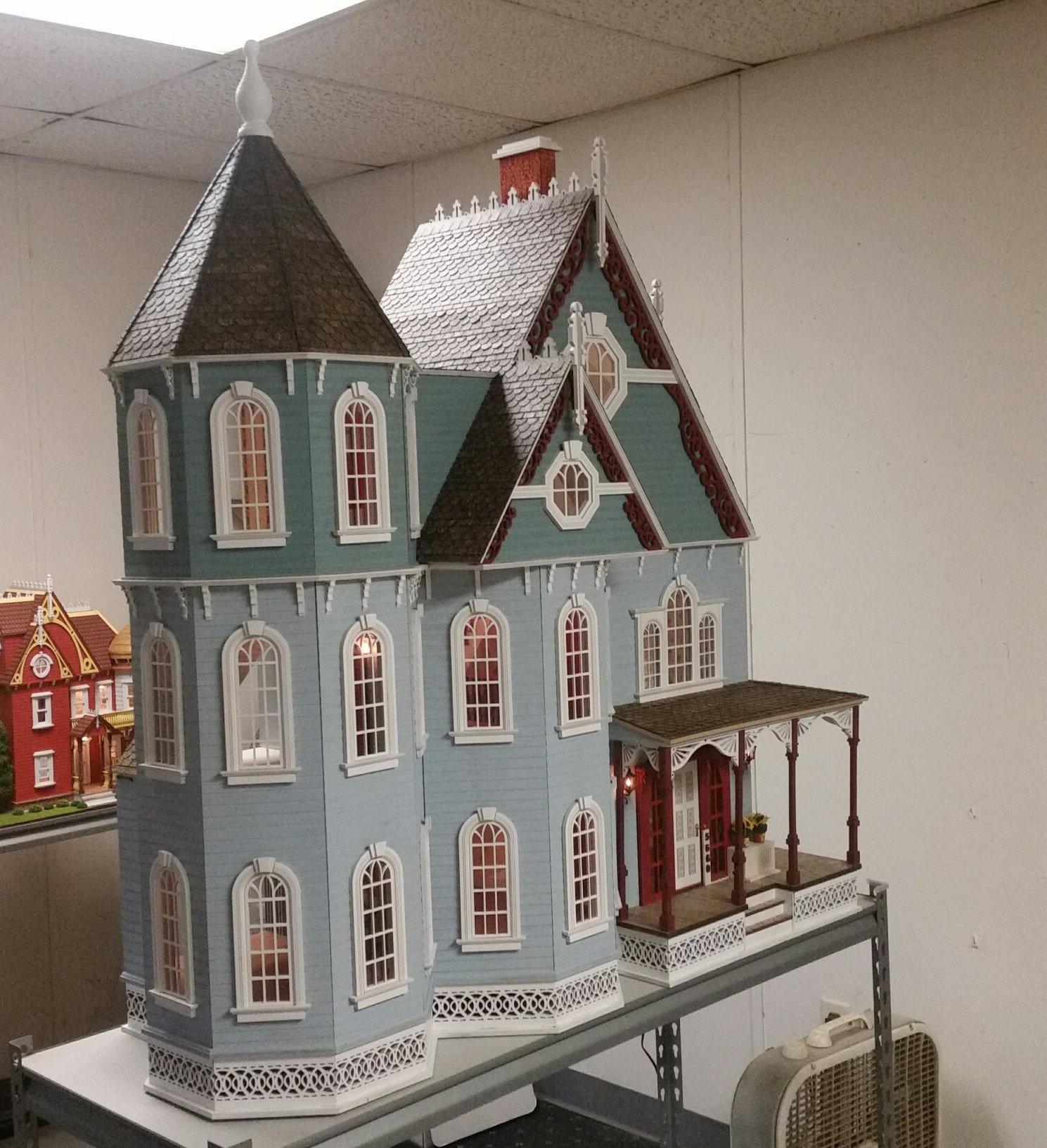 New Leon Victorian Gothic Dollhouse Kit New Victorian Dollhouse Kit