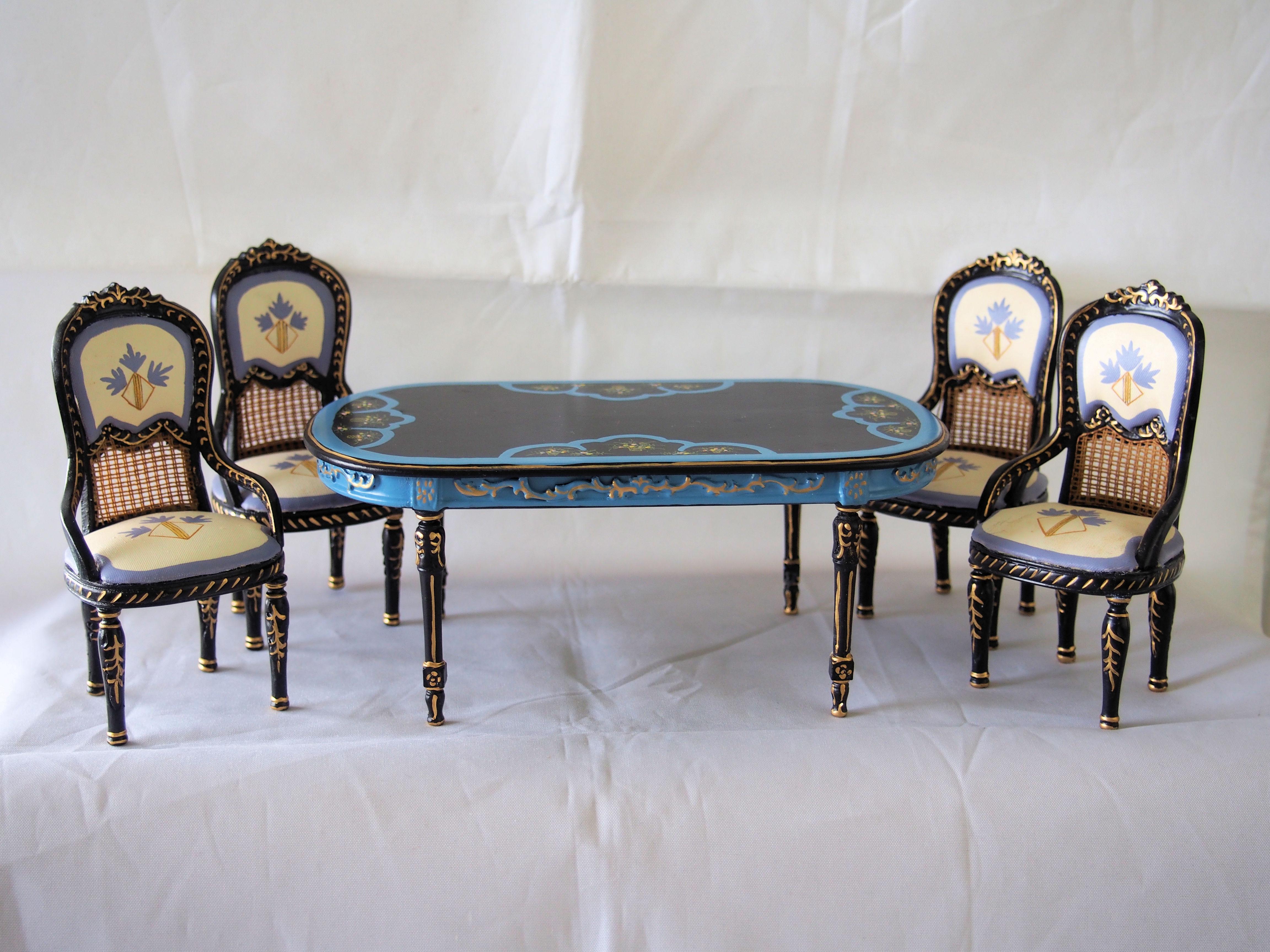 Horizon Miniature Dollhouse Dining Room Set [Hanson 8019] $199 00