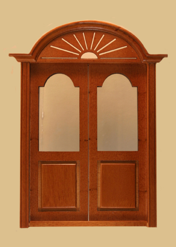 Newport Exterior Double Dollhouse Door In Walnut 800nwn 3280