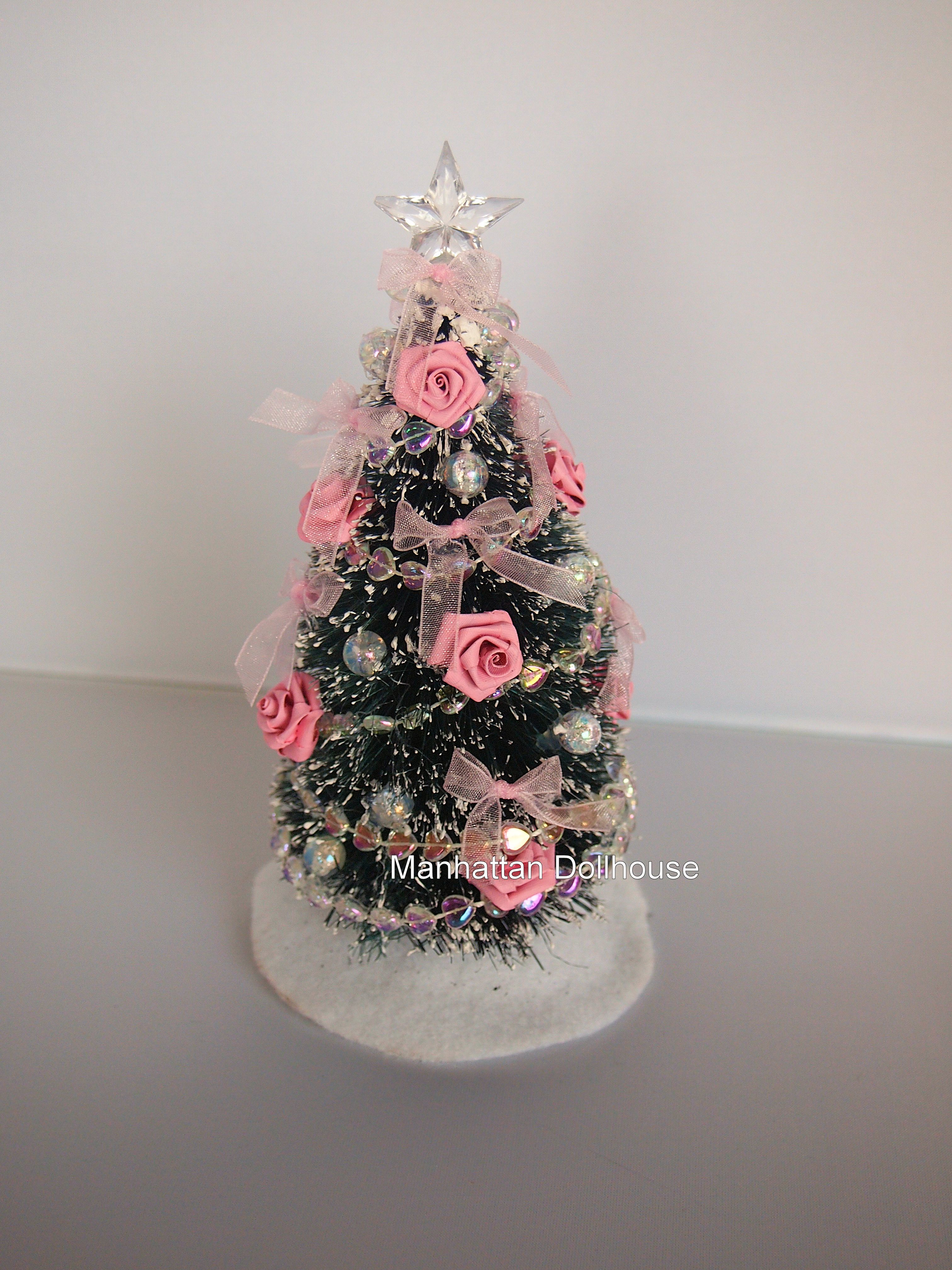 Pretty Decorated Miniature Christmas Tree In Pink 28 00