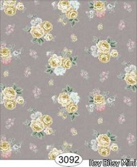 Rose Hill Small Floral Dollhouse Wallpaper